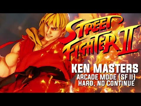 SFV: KEN Arcade Mode (SFII Path). HARD, NO CONTINUE.