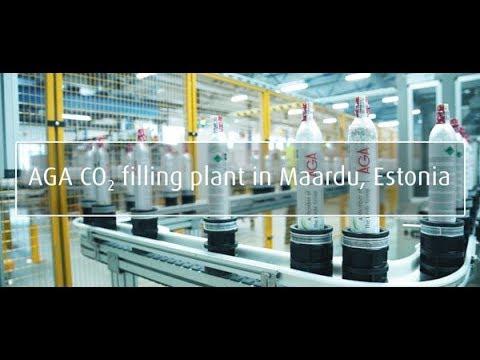 AGA's CO2 filling plant in Maardu, Estonia