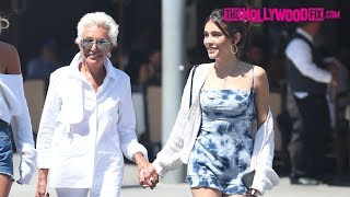 Madison Beer Strolls Hand In Hand With Her Grandmother As They Enjoy Quality Time In Beverly Hills