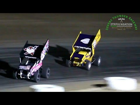 Desert Thunder Raceway 360 Sprint Car Main Event 7/24/21 - dirt track racing video image