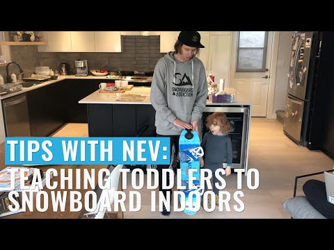 Teaching Toddlers To Snowboard Indoors