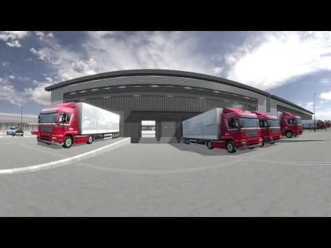 360 degree video of SEGRO Park Rainham virtual flythrough