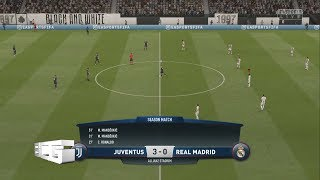 Juventus FC vs Real Madrid(Fifa 19 Online Seasons Match)