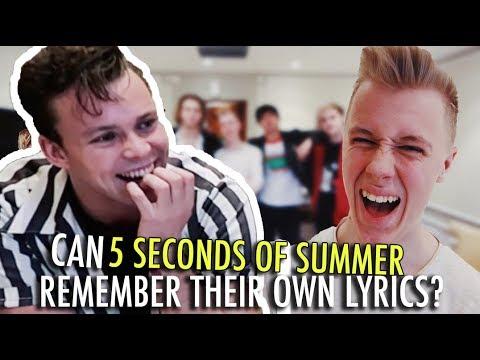 Can 5SOS remember their own lyrics? - UCUttU5E4S2ue7vlPDvUqQOQ