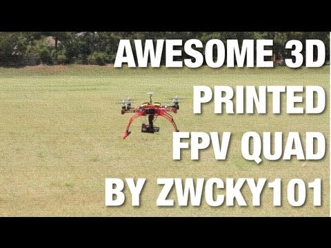 Awesome 3D Printed FPV Quadcopter w/ GoPro Hero3 Gimbal Designed and Printed by Zwcky101 - UC_LDtFt-RADAdI8zIW_ecbg