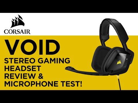 Corsair VOID Stereo Gaming Headset Review & Microphone Test!