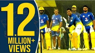 EXCLUSIVE: Dhoni,Raina & Sandeep At CSK Nets | Dhoni's Massive Six | IPL 2019 | Chennai Super Kings