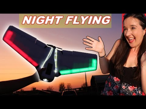 Flying a CHEAP RC Plane with LED Lights - TheRcSaylors - UCYWhRC3xtD_acDIZdr53huA