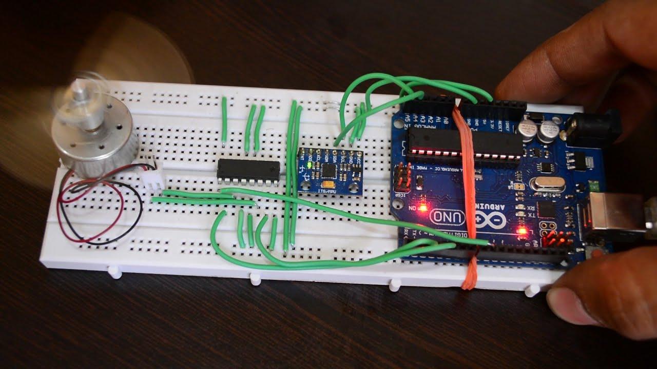 Control Dc Motor Cw Ccw With Mpu 6050 Gyro Accelerometer Arduino Controlled Robot Circuit Diagram