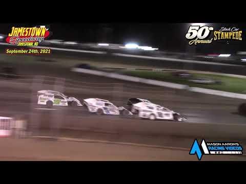 Jamestown Speedway IMCA Modified A-Main (50th Jamestown Stock Car Stampede) (9/24/21) - dirt track racing video image