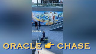 bts[9:16] From Steph Curry lamenting Oracle to D'Angelo Russell/Kevon Looney @ Chase (leaking mural)