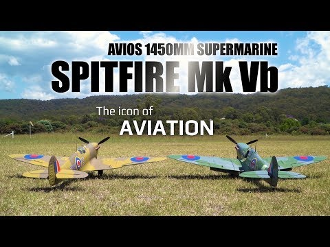 Avios Spitfire MkVb Super Scale 1450mm Warbird - HobbyKing Product Video - UCkNMDHVq-_6aJEh2uRBbRmw