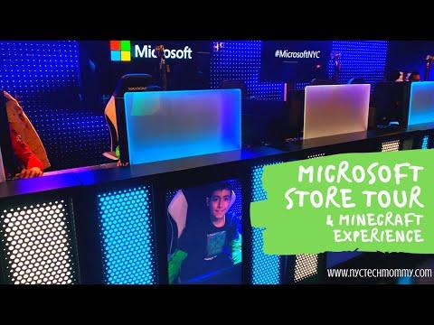 Minecraft Earth Demo & Microsoft Store NYC Tour