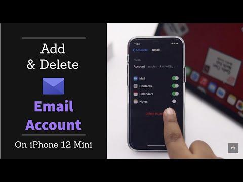 Add & Delete Email Account on iPhone 12, 12 Mini, 12 Pro, 12 Pro Max