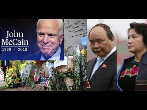 TT và CT Quốc hội VN kính cẩn nghiêng mình vĩnh biệt TNS John McCain