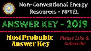 NCER-NPTEL | Answer Key | 2019