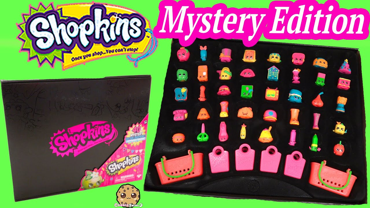 40 Shopkins Target Exclusive Mystery Edition Black Box