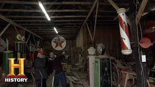 American Pickers: Flooded Petroliana Collectibles (Season 20) | Exclusive | History