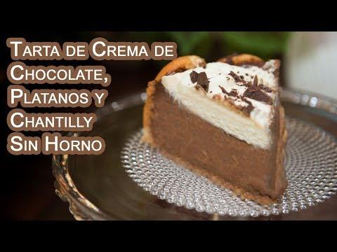 Tarta de Crema de Chocolate, Platanos y Chantilly Sin Horno - UCQpwDEZenMK6rzhLqCZXRhw