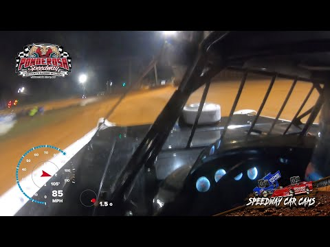 #71 Hudson O'Neal - Feature - Super Late Model - 8-6-21 Ponderosa Speedway - In-Car Camera - dirt track racing video image
