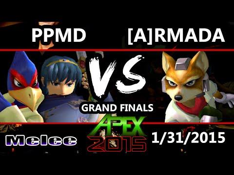 Apex 2015 - Armada (Fox) Vs. PPMD (Marth, Falco) - Grand Finals - SSBM - UCj1J3QuIftjOq9iv_rr7Egw
