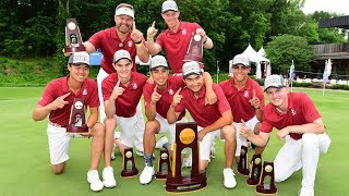 Stanford men's golf hoists ninth NCAA trophy in program history to cap dramatic postseason run