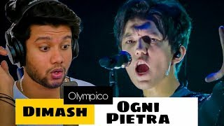 Singer Reacts to Dimash - Ogni Pietra (Fancam) | Olympico | Mind blown!!
