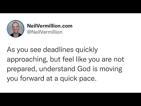 I Am Advancing You More Quickly Than You Would Like - Daily Prophetic Word