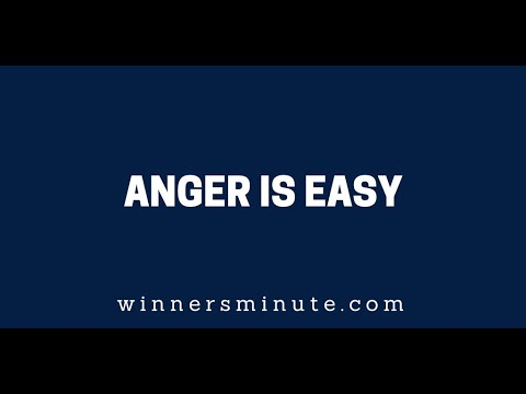 Anger Is Easy  The Winner's Minute With Mac Hammond