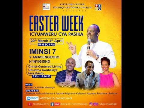 LIVE// ''SUNDAY EASTER WEEK DAY  7  First SErvice  with Bishop Fidele MASENGO 04.04.2021