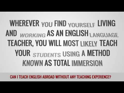 video about your chances to teach as a TEFL teacher without any experience