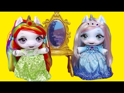 Baby Unicorns Pretend They are Princesses ! Toys and Dolls Fun for Kids with New Dollhouse | SWTAD - UCGcltwAa9xthAVTMF2ZrRYg
