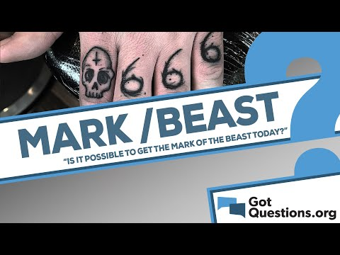 Is it possible for a person to get the mark of the beast today?