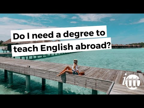 video on whether you need a degree to be a TEFL teacher or not