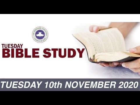 RCCG NOVEMBER 10th 2020 BIBLE STUDY  LOVE OF MONEY