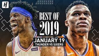 Best of 2019: Oklahoma City Thunder vs Philadelphia 76ers - Full Game Highlights | January 19, 2019