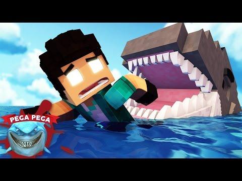 Minecraft: PEGA-PEGA TUBARÃO!! - NOVA SÉRIE!! #1