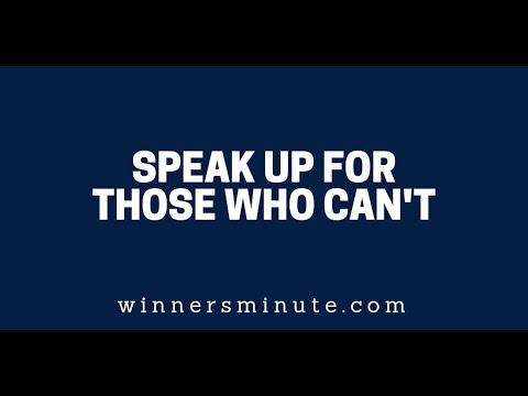 Speak Up for Those Who Cant  The Winner's Minute With Mac Hammond