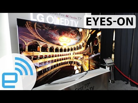 LG 77-Inch Flexible OLED 4K TV at CES 2014   Engadget - UC-6OW5aJYBFM33zXQlBKPNA