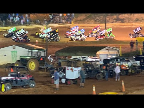 9/10/2021 USCS Sprint Cars TR Speedway - dirt track racing video image