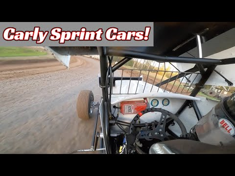 Carly Holmes Sprint Car Heat Race   Cottage Grove Speedway   Full Onboard   April 17th, 2021 - dirt track racing video image