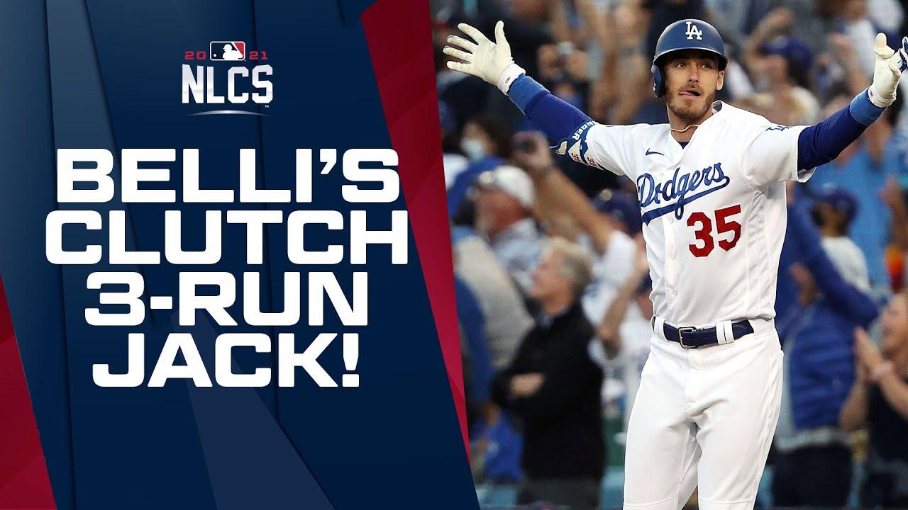 BELLI BELTS IT!!! Dodgers tie it up on Cody Bellinger's 3-run CLUTCH homer in 8th inning!!!