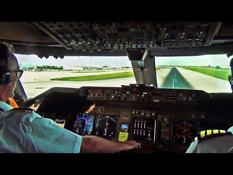 Boeing 747 Cockpit View - Take-Off from Miami Intl. (MIA) - UCsXuZKOezixhyx0TStpmX0A
