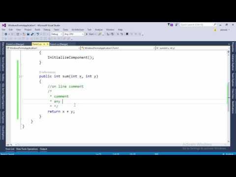 4 XML Comments in CSharp