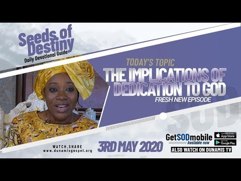 Dr Becky Paul-Enenche - SEEDS OF DESTINY  SUNDAY, 03 MAY, 2020