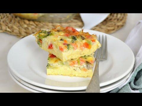 Pastel de verduras express ¡Rápido y delicioso!. Perfecto para aprovechar cualquier tipo de verduras