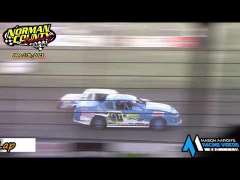Norman County Raceway IMCA Stock Car A-Main (6/17/21) - dirt track racing video image
