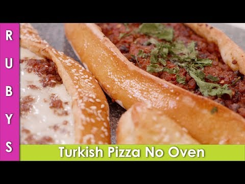 Turkish Pizza Without Oven Pide 2 Ways Recipe in Urdu Hindi - RKK - UCMhx-uS3O-G_6_lTrYmDKLw