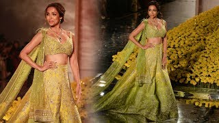 Malaika Arora Dazzle The Ramp At India Couture Week 2019