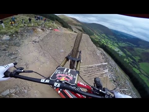Dan Atherton Sends It Down the Hardline MTB Track | Red Bull Hardline: GoPro View - UCXqlds5f7B2OOs9vQuevl4A